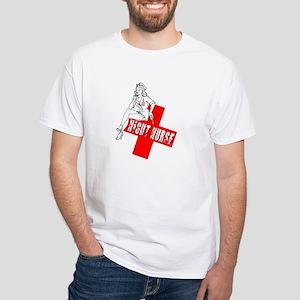 Night Nurse White T-Shirt