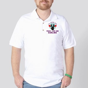 I am voting for Peace, Love and Curling Polo Shirt