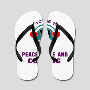 I am voting for Peace, Love and Curling Flip Flops