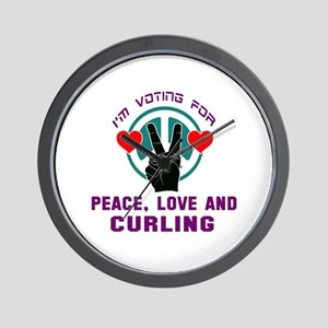 I am voting for Peace, Love and Curling Wall Clock