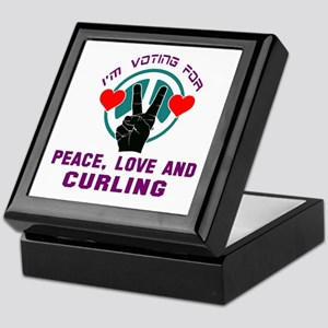 I am voting for Peace, Love and Curli Keepsake Box
