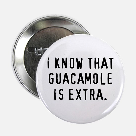 Guacamole is Extra - Button