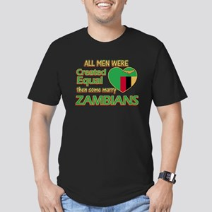 Zambian wife designs Men's Fitted T-Shirt (dark)