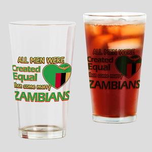 Zambian wife designs Drinking Glass