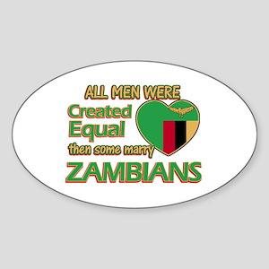 Zambian wife designs Sticker (Oval)