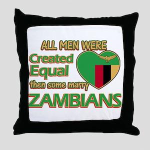 Zambian wife designs Throw Pillow