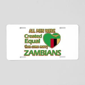 Zambian wife designs Aluminum License Plate