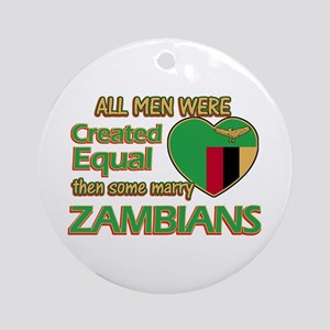Zambian wife designs Ornament (Round)