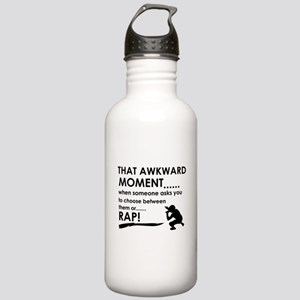 Awkward moment rap designs Stainless Water Bottle