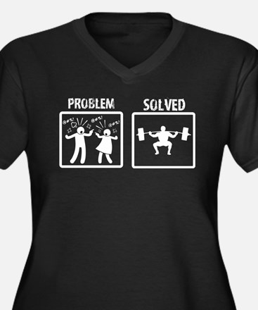 Problem Solved Powerlifting Plus Size T-Shirt