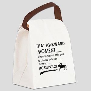 Awkward moment horsepolo designs Canvas Lunch Bag