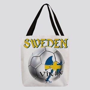 Sweden Football Polyester Tote Bag