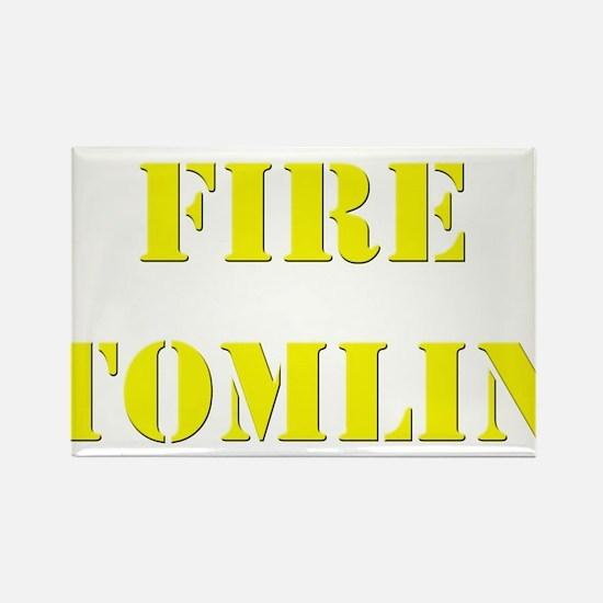 Fire Tomlin Outline Rectangle Magnet