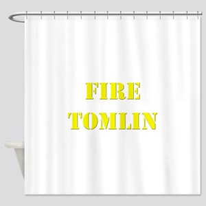 Fire Tomlin Outline Shower Curtain