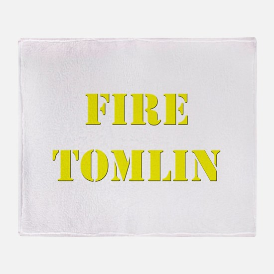 Fire Tomlin Outline Throw Blanket
