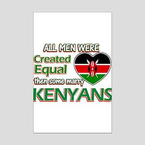 Kenyan wife designs Mini Poster Print