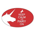 Fairy On Sticker (Oval)