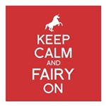 Fairy On Square Car Magnet 3