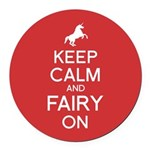 Fairy On Round Car Magnet