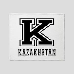 Kazakhstan Designs Throw Blanket