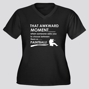 Awkward moment paintball designs Women's Plus Size