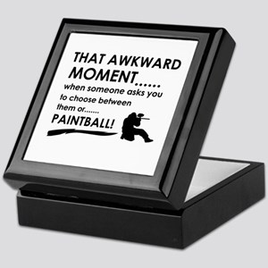 Awkward moment paintball designs Keepsake Box