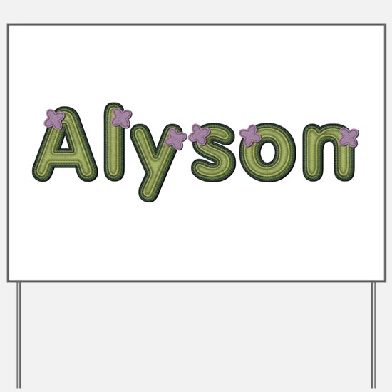 Alyson Spring Green Yard Sign