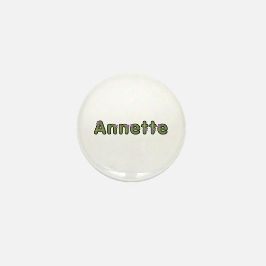 Annette Spring Green Mini Button
