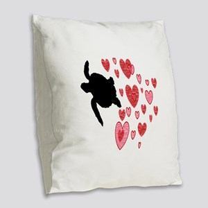 LOVELY ONES Burlap Throw Pillow
