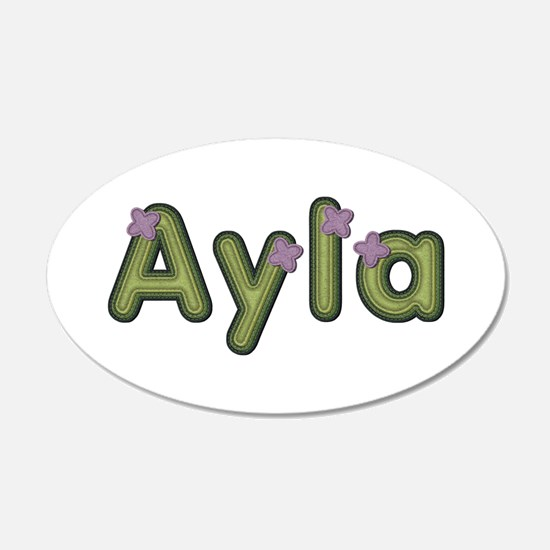 Ayla Spring Green Wall Decal