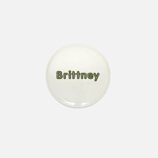 Brittney Spring Green Mini Button