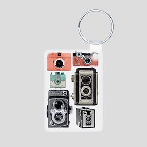 vintage cameras Aluminum Photo Keychain