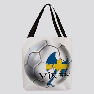 Sweden Soccer Ball Polyester Tote Bag