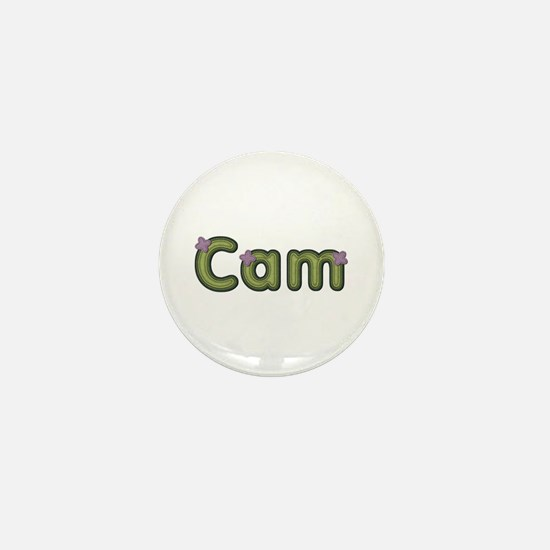 Cam Spring Green Mini Button