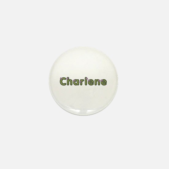 Charlene Spring Green Mini Button