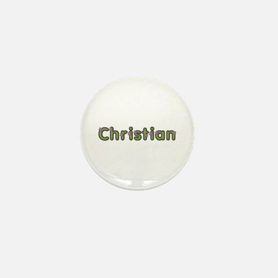 Christian Spring Green Mini Button