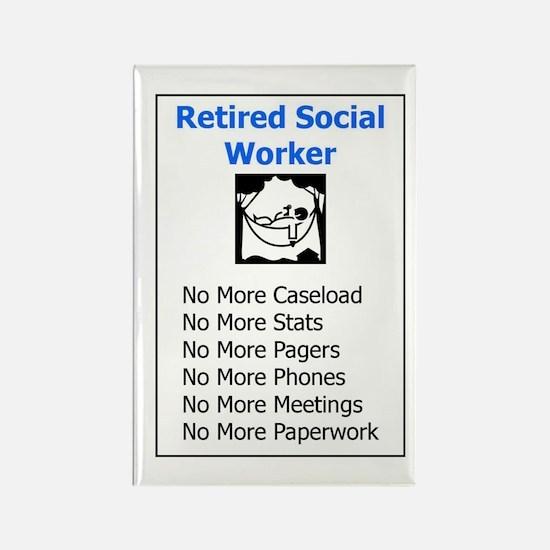 Retired Social Worker Rectangle Magnet