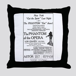 Astor Theatre Ad Throw Pillow
