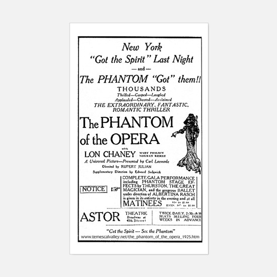Astor Theatre Ad Rectangle Decal
