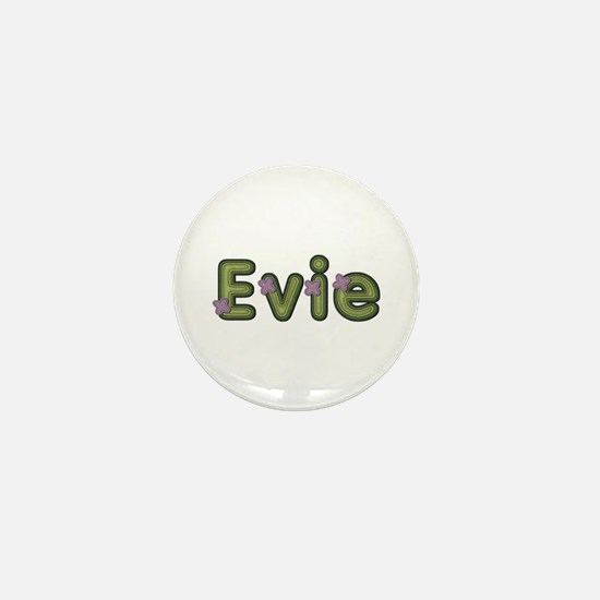 Evie Spring Green Mini Button