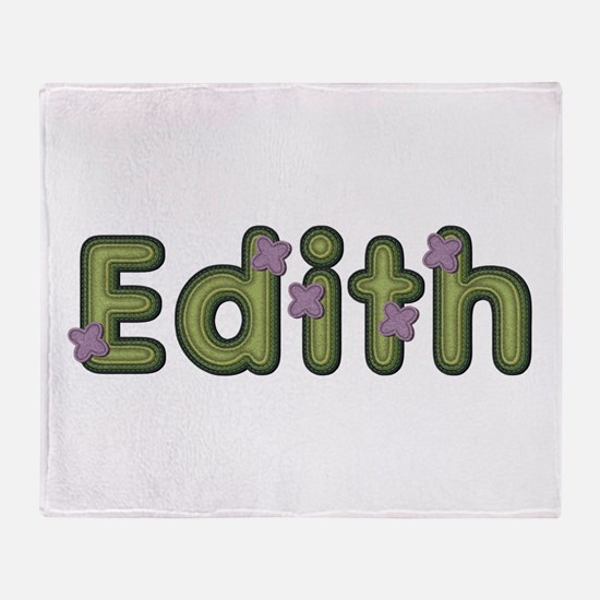 Edith Spring Green Throw Blanket