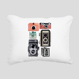 vintage cameras Rectangular Canvas Pillow