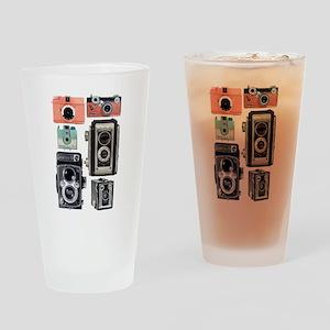 vintage cameras Drinking Glass