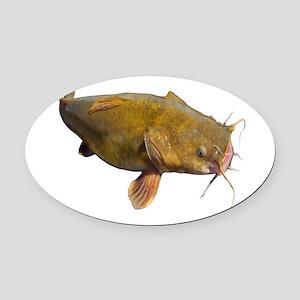 Big Flathead Catfish Oval Car Magnet