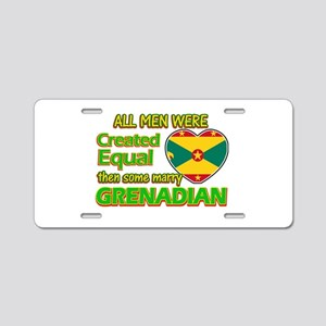 Grenadian wife designs Aluminum License Plate