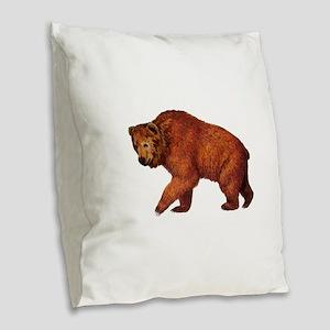 TRUE TO ROAM Burlap Throw Pillow