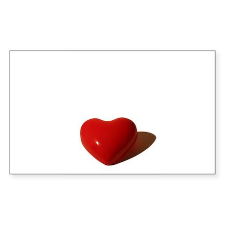 Valentine Heart Rectangle Sticker
