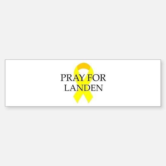 Pray for Landen Bumper Bumper Bumper Sticker