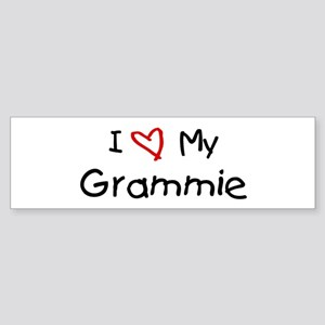 I Love My Grammie Bumper Sticker