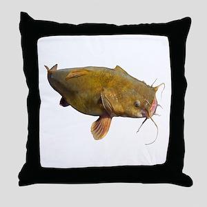 Big Flathead Catfish Throw Pillow